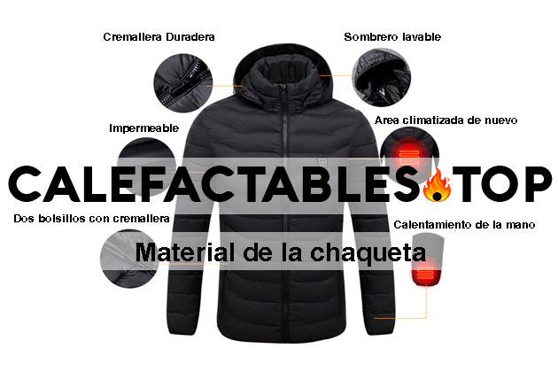 materiales de una chaqueta calefactable