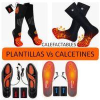 plantillas vs calcetines calefactables
