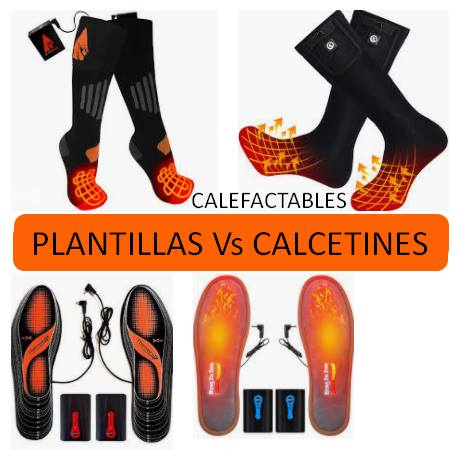 plantillas vs calcetines calefactables